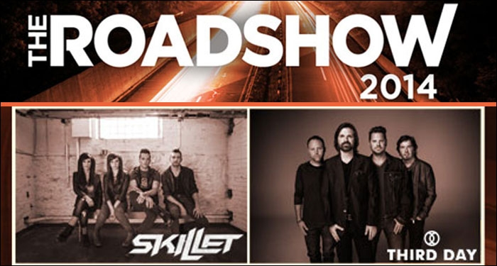 Skillet, Third Day to Headline Roadshow 2014