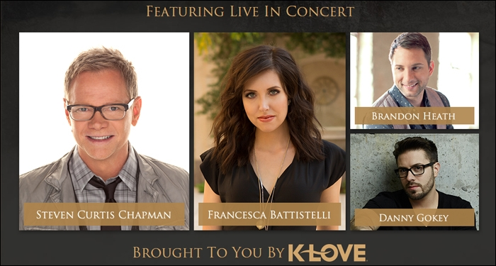The Bible Tour 2015 to Include Steven Curtis Chapman, Francesca Battistelli, Brandon Heath and Danny