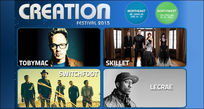 Creation Festivals Announce Lineup