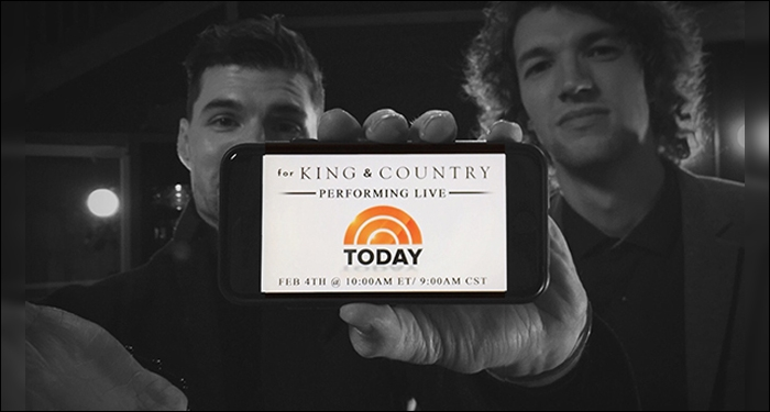 for KING & COUNTRY to Appear on NBC's TODAY