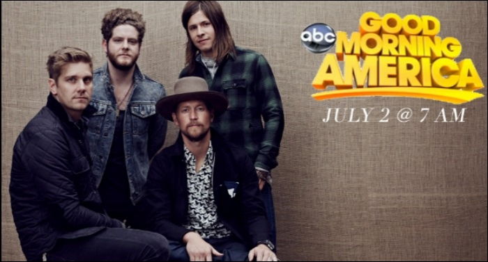 NEEDTOBREATHE Set To Play Good Morning America With Gavin DeGraw