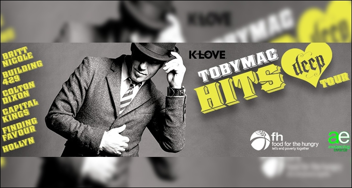 TobyMac Announces Hits Deep Tour 2016, Presented by K-LOVE/Air1 and Food for the Hungry