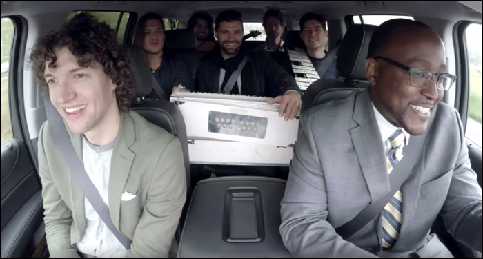 for KING & COUNTRY Performs in an Enterprise Rent-a-Car
