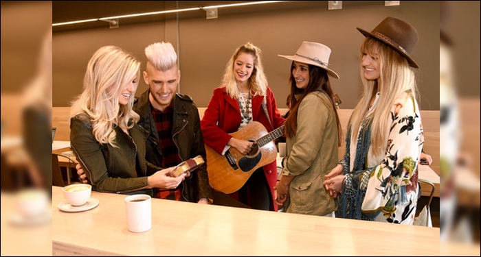 HERSHEY'S KISSES Helps Colton Dixon Surprise Wife Annie For Valentines Day With UBER Serenade In Nas
