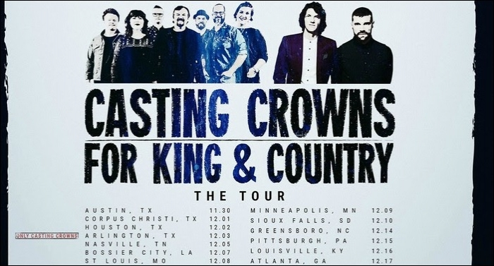 Casting Crowns and for KING & COUNTRY Join Forces on 'A Glorious Christmas' Tour