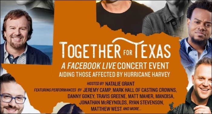 Artists Gather to Host 'Together For Texas' Facebook Live Event Tomorrow