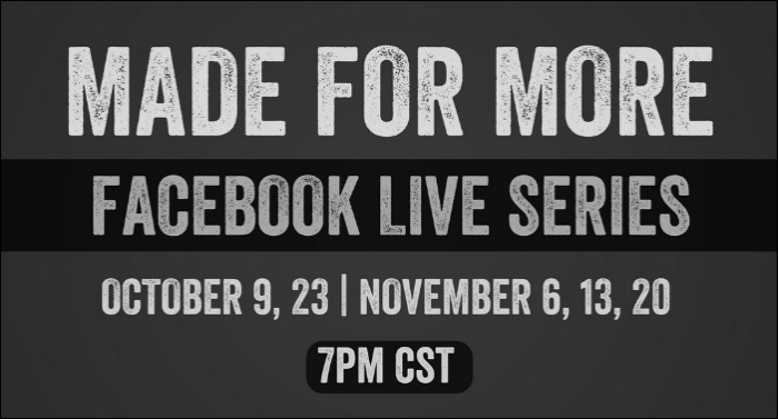 Matt Hammitt Begins 'Made For More' Facebook Live Series, First Episode Tonight with Tim Timmons