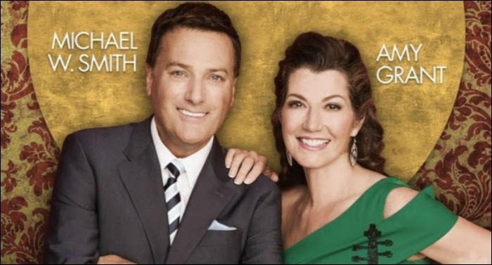 balsam hill christmas trees create backdrop for 2017 amy grant michael w smith christmas tour