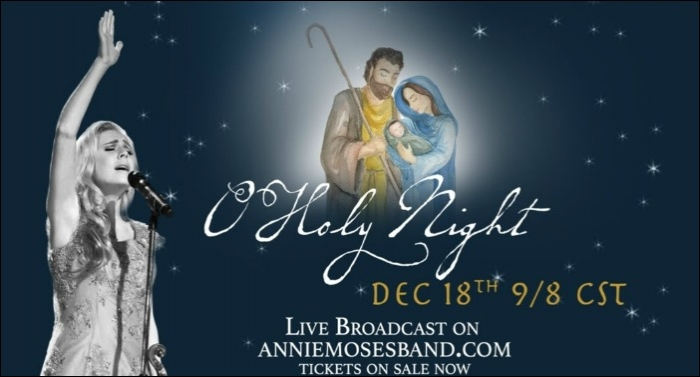 Annie Moses Band Releases Christmas Singles 'O Holy Night,' 'Carol Of The Bells'