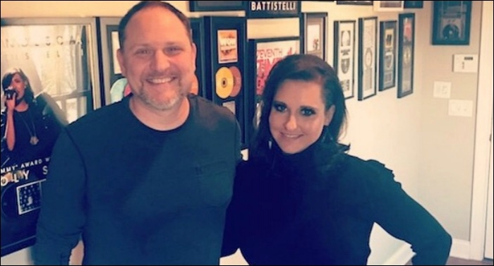 Natasha Owens In Studio Working on New Album with Producer Ian Eskelin