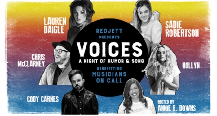 Redjett Presents 'VOICES: An Evening of Humor and Song'