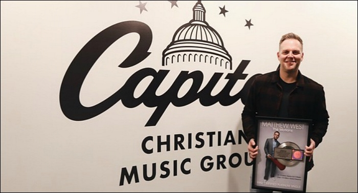 Matthew West Surprised with RIAA Platinum Certification of 'The Motions'