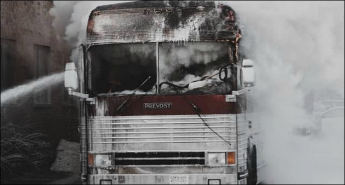 I Am They, Citizen Way's Tour Bus Catches Fire