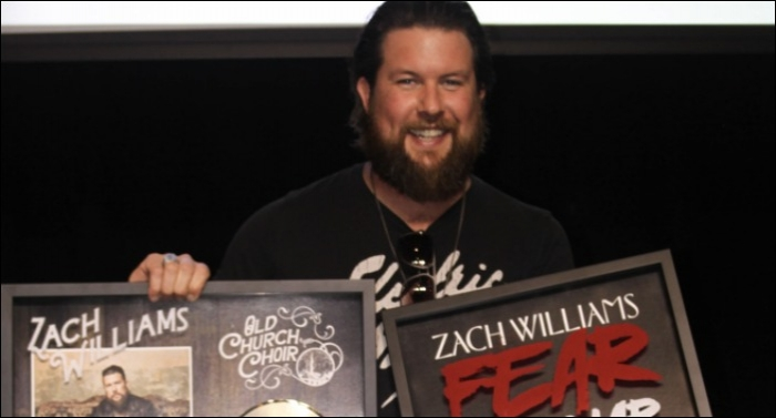 Zach Williams Receives Two More RIAA Gold Certifications
