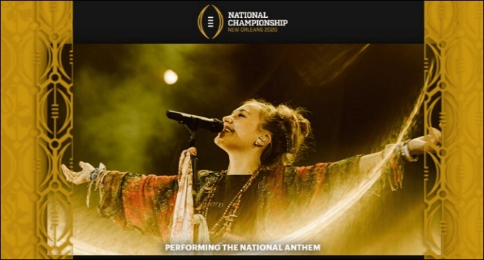 Lauren Daigle to Perform the National Anthem at NOLA National Championship Game