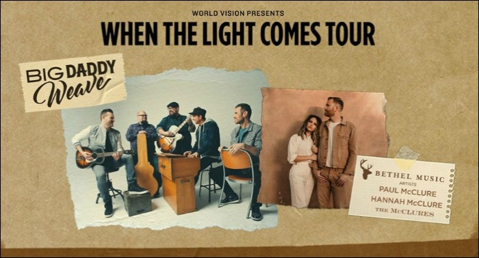 Big Daddy Weave, Bethel's Paul & Hannah McClure to Partner for Spring Tour