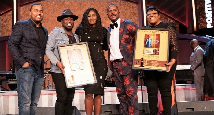 RCA Inspiration Celebrates Donald Lawrence and Le'Andria Johnson with #1 Plaques for 'Deliver Me'