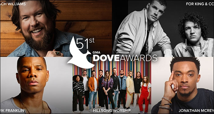 51st Annual GMA Dove Awards Nominees Announced