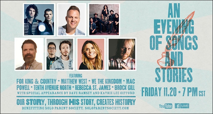 For KING & COUNTY, Tenth Avenue North, And Matthew West Headline Live-Stream